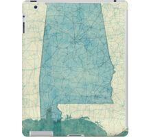 Alabama Map Blue Vintage iPad Case/Skin