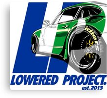 lowered project Canvas Print