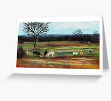 GRAZING IN THE PASTURE Greeting Card