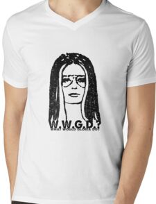 W.W.G.D.?: WHAT WOULD GLORIA DO? Mens V-Neck T-Shirt