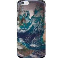 A full view of Earth showing global data for land surface, polar sea ice, and chlorophyll. iPhone Case/Skin
