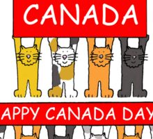 I love Canada Happy Canada Day from the cats. Sticker