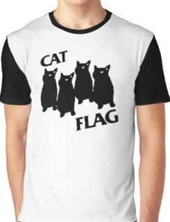 Black Flag Cat Graphic T-Shirt