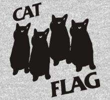 Black Flag Cat Kids Tee