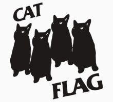 Black Flag Cat One Piece - Short Sleeve