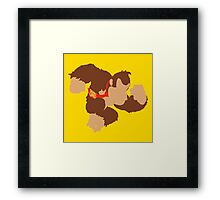 Smash Bros - Donkey Kong Framed Print