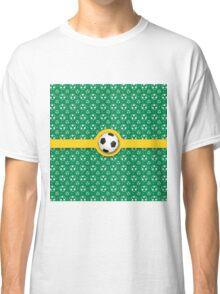 Football Soccer Australian Colours Green Gold Ball Pattern Classic T-Shirt