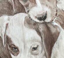 Siblings pups  Sticker