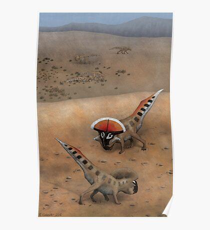 Protoceratops Confrontation Poster