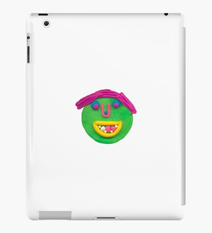silly green face iPad Case/Skin