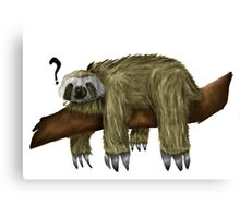 Confused Sloth Canvas Print