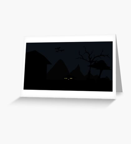 PiXel Night Greeting Card