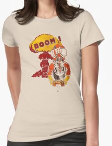 Gamer Cartoon Boom Womens Fitted T-Shirt