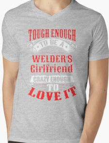 Tough Enough To Be A Welder's Girlfriend Mens V-Neck T-Shirt