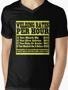 WELDING RATES PER HOUR Mens V-Neck T-Shirt