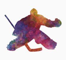 Hockey porter in watercolor Kids Tee