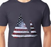red white blue sailboat Unisex T-Shirt
