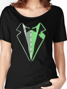 Glow In The Dark Tuxedo Women's Relaxed Fit T-Shirt