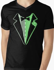 Glow In The Dark Tuxedo Mens V-Neck T-Shirt