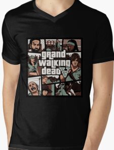 Grand The Walking Dead Mens V-Neck T-Shirt