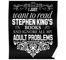 I don't need therapy I just need to read Stephen King's Books Poster