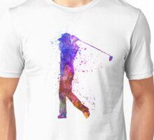 man golfer swing silhouette Unisex T-Shirt