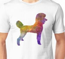 Poodle 01 in watercolor Unisex T-Shirt