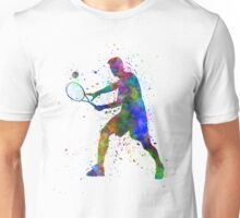 tennis player in silhouette 01 Unisex T-Shirt