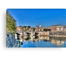 St Peter's and the Tiber Canvas Print