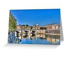 St Peter's and the Tiber Greeting Card