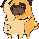 Pug Hugs by Huebucket
