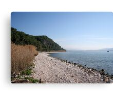 Pebbled Beach Akyaka Turkey Canvas Print