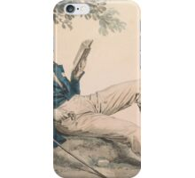 Julien Léopold Boilly Young Man Reading under a Tree iPhone Case/Skin