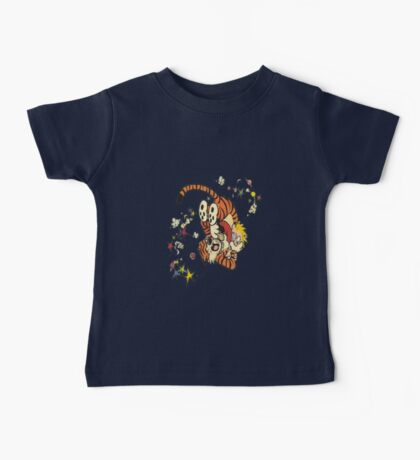 calvin-and-hobbes-fighting Baby Tee