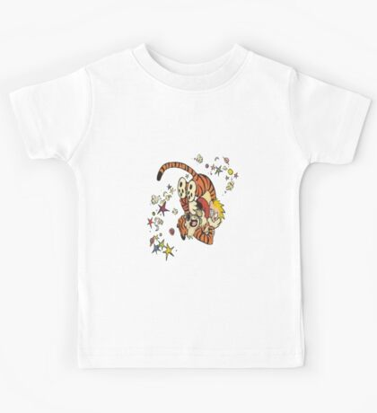 calvin-and-hobbes-fighting Kids Tee