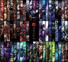 Dota heroes by Pham