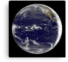 Satellite view of Earth centered over the Pacific Ocean.  Canvas Print