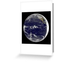 Satellite view of Earth centered over the Pacific Ocean.  Greeting Card