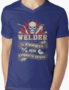 welder Mens V-Neck T-Shirt