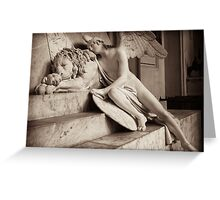 angel & lion  Greeting Card