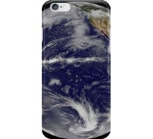 Satellite image of Earth centered over the Pacific Ocean. iPhone Case/Skin