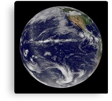Satellite image of Earth centered over the Pacific Ocean. Canvas Print
