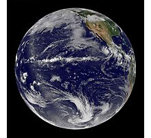 Satellite image of Earth centered over the Pacific Ocean. Photographic Print