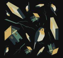 Flying Birdhouse (Pattern) One Piece - Long Sleeve