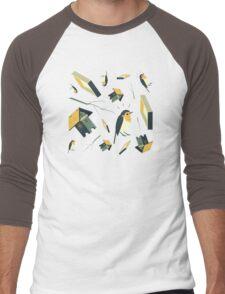 Flying Birdhouse (Pattern) Men's Baseball ¾ T-Shirt