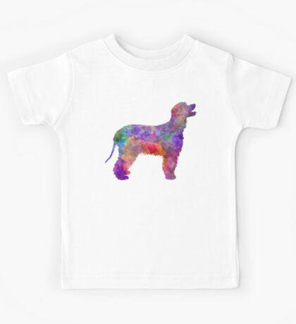 Irish Water Spaniel in watercolor Kids Tee