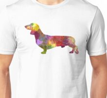 Dachshund in watercolor Unisex T-Shirt