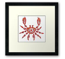 Cancer - The Crab Framed Print