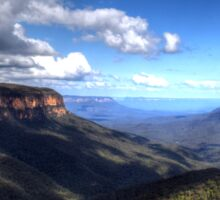 Looking Out Across The Blue Mountains Australia Sticker