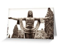 goddess of fortune Greeting Card